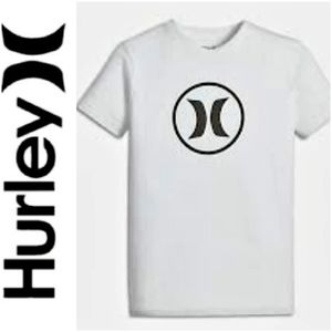 HURLEY Premium Nike Dri-Fit Icon Logo Tee-Large